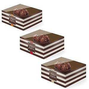 Caixa New Practice Meio Ovo Mini 50g 11,5x9x5,5cm Hit Sortido - 06 unidades - Cromus Páscoa - Rizzo Embalagens