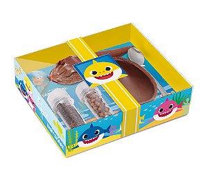 Kit Confeiteiro Baby Shark 100g - 19,5x17x5cm - 01 unidade - Cromus Páscoa - Rizzo Embalagens
