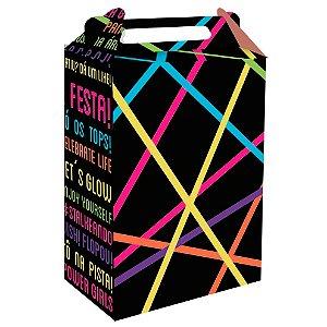Caixa Surpresa Festa Neon - 9x5x13cm - 8 unidades - Festcolor - Rizzo Embalagens