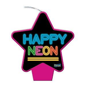 Vela Pink Festa Neon - 1 unidade - Festcolor - Rizzo Embalagens e Festas
