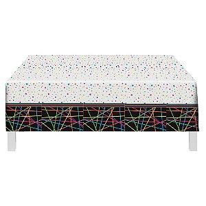 Toalha De Mesa Festa Neon - 1,20mx1,80m - 01 unidade - Festcolor - Rizzo Festas