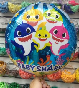 Balão Metalizado Baby Shark 40cm  - Rizzo Festas