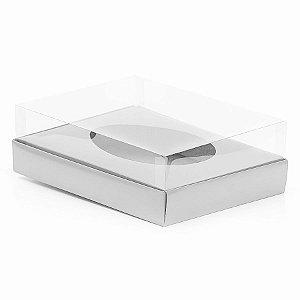 Caixa Ovo de Colher - Meio Ovo de 1Kg - 28,5cm x 21,5cm x 9cm - Branca - 5unidades - Assk - Páscoa Rizzo Embalagens