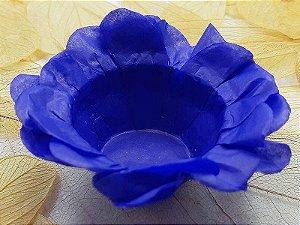 Forminha para Doces Floral em Seda Azul Escuro - 40 unidades - Decorart