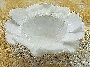Forminha para Doces Floral em Seda Branco - 40 unidades - Decorart
