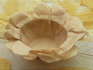 Forminha para Doces Floral em Seda Capuccino - 40 unidades - Decorart