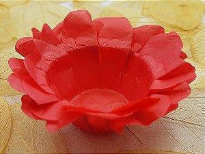 Forminha para Doces Floral em Seda Vermelho - 40 unidades - Decorart