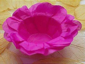 Forminha para Doces Floral em Seda Pink - 40 unidades - Decorart