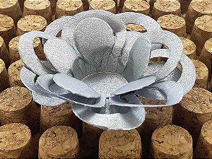 Forminha para Doces Floral Loá Colorset Prata - 40 unidades - Decorart