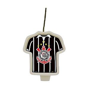 Vela Camisa Festa Corinthians - 1 unidade - Festcolor - Rizzo Embalagens e Festas