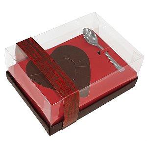 Caixa Coração de Colher 500g - Classic Red Love Cód 1404 - 05 unidades - Ideia Embalagens - Rizzo Embalagens