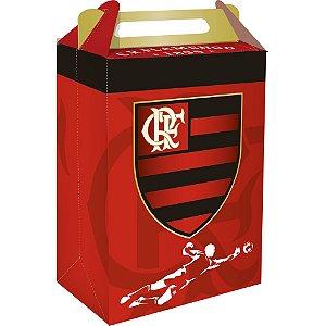 Caixa Surpresa Emblema Festa Flamengo - 8 unidades - Festcolor - Rizzo Embalagens