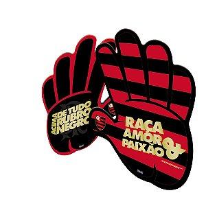 Mão Torcedor Festa Flamengo - 06 unidades - Festcolor - Rizzo Festas
