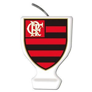 Vela Emblema Festa Flamengo - 1 unidade - Festcolor - Rizzo Embalagens e Festas
