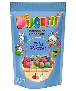 Ovinhos de Chocolate Coloridos Disqueti ao Leite 100g - Dori - Páscoa - Rizzo Embalagens