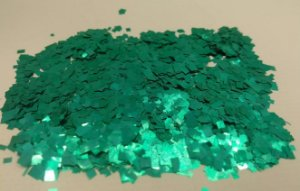 Confete Verde Metalizado Quadrado para Balão 25g - Estilo e Festas Rizzo Festas
