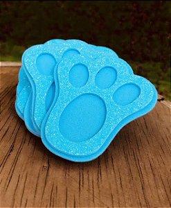 Aplique Patinha Coelho de EVA - Azul - 06 unidades - Make Festas - Páscoa - Rizzo Embalagens