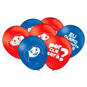 Balão Festa O Show da Luna - 25 unidades - Festcolor - Rizzo Festas