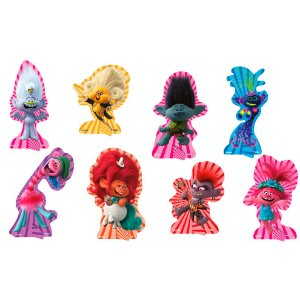 Decoração de Mesa Festa Trolls - 08 unidades - Festcolor - Rizzo Festas