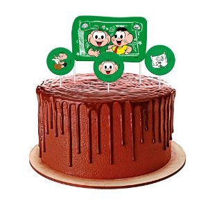 Topo de bolo Festa Cebolinha - 04 unidades - Festcolor - Rizzo Festas?
