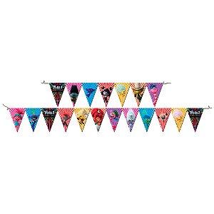 Faixa decorativa Festa Trolls 2 - 01 unidade - Festcolor - Rizzo Festas