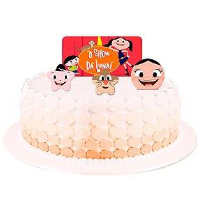 Topo de bolo Festa Show da Luna - 04 unidades - Festcolor - Rizzo Festas