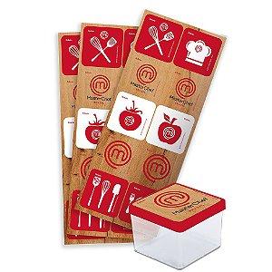 Adesivo Quadrado Decorativo Festa Master Chef - 30 unidades - Festcolor - Rizzo Festas
