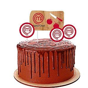 Topo de bolo Festa Master Chef - 04 unidades - Festcolor - Rizzo Festas?