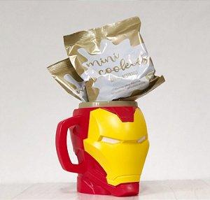 Kit Caneca 3D com Cookies - Homem de Ferro - 01 unidade - Cromus - Rizzo Embalagens