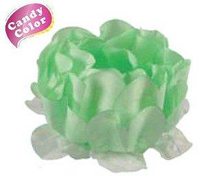Forminha para Doces Finos - Rosa Maior Verde Candy 40 unidades - Decora Doces - Rizzo Festas