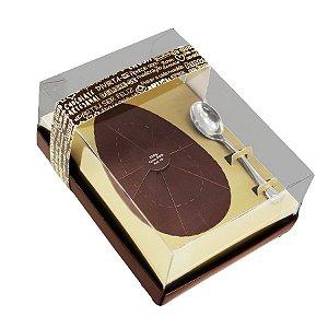Caixa Ovo de Colher Ouro Marrom - Meio Ovo de 250g - 16x12x6,5cm - 05 unidades - Ideia Embalagens - Páscoa Rizzo Embalagens