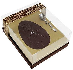 Caixa Ovo de Colher de 350g - Classic Ouro Marrom Cód 1414 - 05 unidades - Ideia Embalagens - Rizzo Embalagens