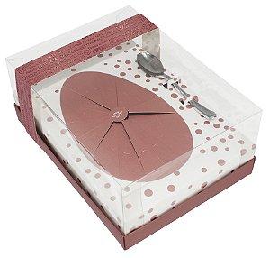 Caixa Ovo de Colher de 500g - Classic Rose Gold Cód 2224 - 05 unidades - Ideia Embalagens - Rizzo Embalagens