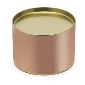 Lata para Bombons Liso Rose Gold P - 10x7cm - 01 unidade - Cromus - Rizzo Embalagens