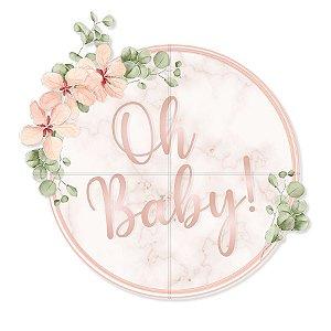 Painel Redondo - Festa OH Baby Girl - 01 unidade - Cromus - Rizzo Festas