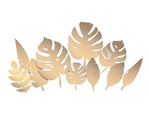 Folhagens Metalizadas Sortidas Douradas - Festa OH Baby Boy - 10 unidades - Cromus - Rizzo Festas