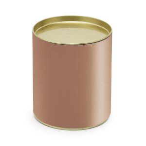 Lata para Bombons Liso Rose Gold G - 12x10cm - 01 unidade - Cromus - Rizzo Embalagens