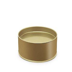 Lata para Bem Casado Liso Ouro PP - 5x6cm - 01 unidade - Cromus - Rizzo Embalagens
