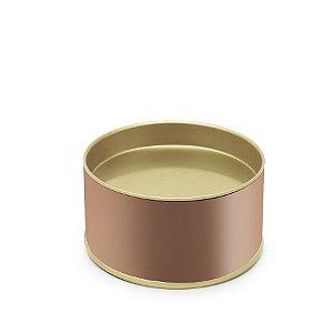 Lata para Bem Casado Liso Rose Gold PP - 5x6cm - 01 unidade - Cromus - Rizzo Embalagens