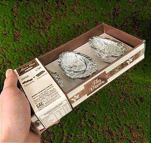 Kit Caixa Marfim com 3 Cascas Chocolate 60g ao Leite Sicao - APENAS RETIRADA PESSOALMENTE - 1 unidade - Cromus Sicao Rizzo Embalagens