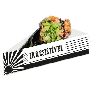 Berço para Temaki Preto e Branco - 50 unidades - Food Service Fest Color - Rizzo Embalagens