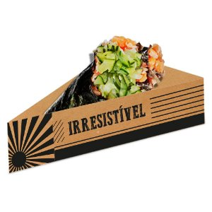 Berço para Temaki Kraft - 50 unidades - Food Service Fest Color - Rizzo Embalagens