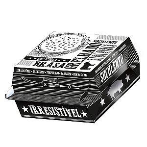 Caixa para Hambúrguer Preto e Branco - 50 unidades - Food Service Fest Color - Rizzo Embalagens