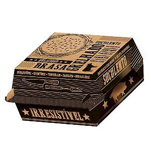 Caixa para Hambúrguer Kraft - 50 unidades - Food Service Fest Color - Rizzo Embalagens