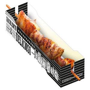 Caixa para Espetinho Preto e Branco - 50 unidades - Food Service Fest Color - Rizzo Embalagens