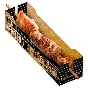 Caixa para Espetinho Kraft- 50 unidades - Food Service Fest Color - Rizzo Embalagens