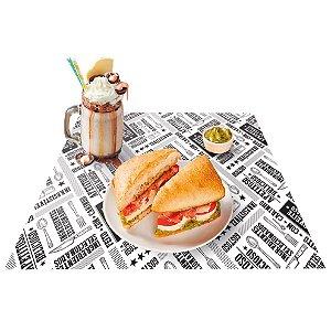 Jogo Americano Preto e Branco - 50 unidades - Food Service Fest Color - Rizzo Embalagens