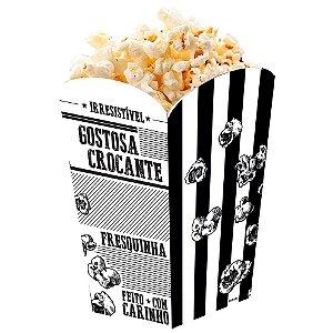 Caixa para Pipoca Preto e Branco - 50 unidades - Food Service Fest Color
