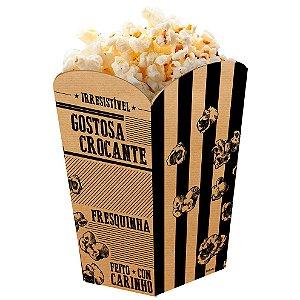 Caixa para Pipoca Kraft - 50 unidades - Food Service Fest Color - Rizzo Embalagens
