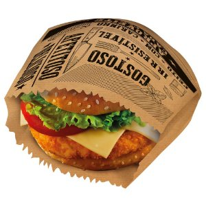 Saquinho para Lanche Kraft - 50 unidades - Food Service Fest Color - Rizzo Embalagens